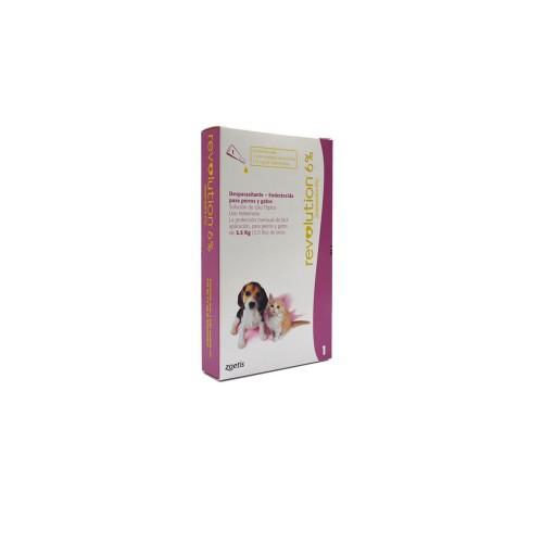 Antipulgas Revolution 6% para cachorros y gatitos