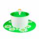 Fuente de agua Flor Verde pequeña 1.6 Lt